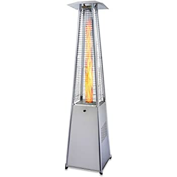 This Item Garden Radiance GRP4000SS Dancing Flames Pyramid Outdoor Patio  Heater With Stainless Steel Base