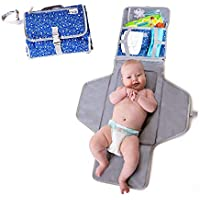 MikiLife Baby Lightweight Travel Portable Changing Mat with Waterproof and Cushioned Pad