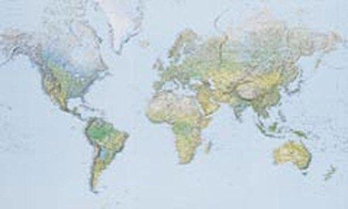 Kümmerly And Frey Poster Welt Physisch 3 Bl.  Kümmerly+Frey Welt  Und Kontinentkarten