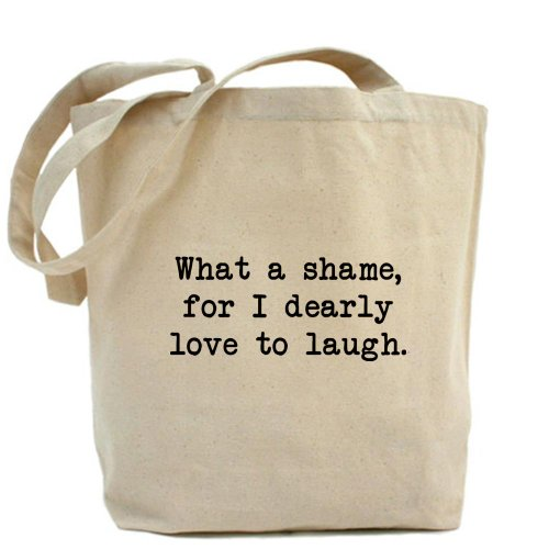 Cafepress – caro Love to Laugh – Borsa di tela naturale, tessuto in iuta