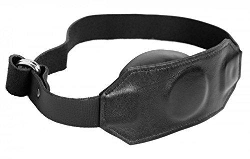 Large-Big-Mouth-Gag-2-inch-Soft-Sex-Black-Leather-Mask-Adult-Huge-Giant-Massive-Bondage-gear-SM-Gags-Ball
