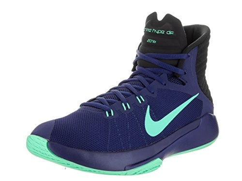 Scarpe da basket Nike Prime Hype DF 2016 blu / verde lucido / nere / Ga 11.5 Uomo Stati Uniti