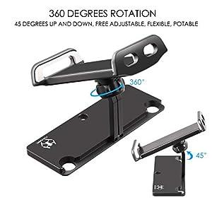DJI Mavic Air Pro Platinum Spark Tablet Holder – Uzopi Aluminum-Alloy Adjustable Remote Controller Accessories Bracket Mount Extender with Neck Lanyard Strap for 4-12 Inch Phone Tablets