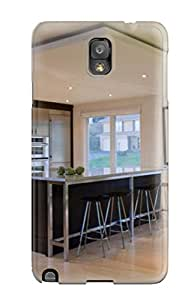 Fashion Tpu Case For Galaxy Note 3- Open Kitchen Plan With Modern Lighting Defender Case Cover