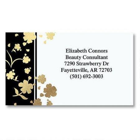 Set Card Calling (Gold Floral Elegance Foil Business Cards - Set of 250 2