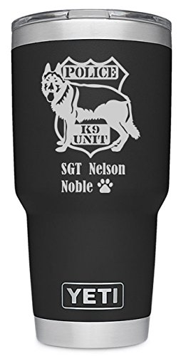 YETI Rambler Custom Engraved Police K-9 Design Now available in Limited Edition Pink - NOT A STICKER by DoGood Designs