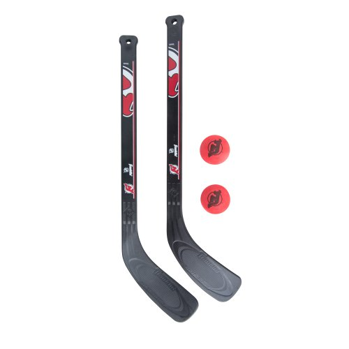 Franklin Sports NHL New Jersey Devils Mini Hockey 2 Piece Player Stick Set 705 Ice Hockey Skates