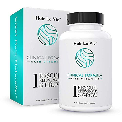 Hair La Vie Clinical Formula Hair Vitamins with Biotin and Saw Palmetto - Thicker Healthier Hair Growth