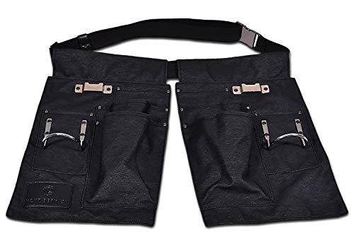 Blacksmith Wood Holder - Premium 8 Pocket Tool Belt, Slides Around Belt for Multiple Positions - Blacksmith, Woodworking, Ironworker, Metal Tape and Hammer Holders, Includes 40mm Belt and Metal Buckle, Unique Design