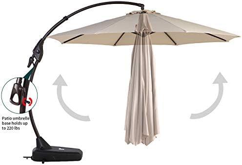 Grand patio Napoli Premium Outdoor Offset Patio Cantilever Umbrella