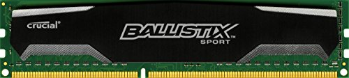 Keyboard Mouse 1 Dvi Cable (Ballistix Sport 4GB Single DDR3 1600 MT/s (PC3-12800) UDIMM 240-Pin Memory - BLS4G3D1609DS1S00)
