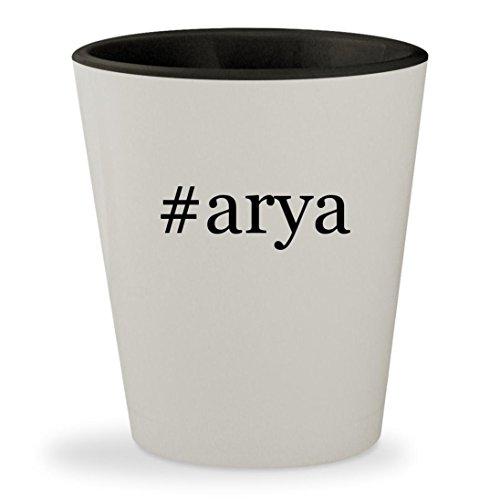 #arya - Hashtag White Outer & Black Inner Ceramic 1.5oz Shot (Eragon Arya Costume)