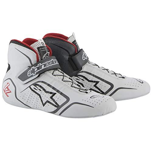 Shoes Racing Alpinestars - Alpinestars TECH 1-Z SHOES WHT/GRY/RD 11