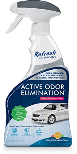 Refresh Your Car! E300863600 Active Odor Elimination 16oz Trigger Spray, Grapefruit