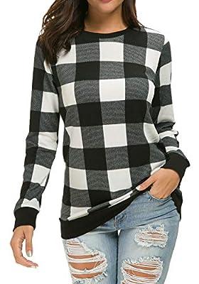 LAINAB Womens Long Sleeve Loose Casual Tunic Pullover Sweatshirt Tops