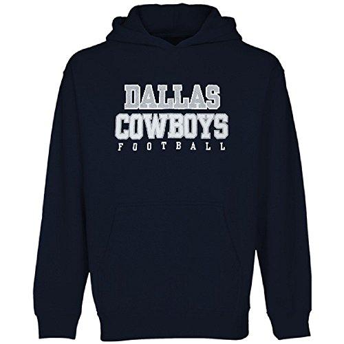 LSA Dallas Football Youth Navy Blue Practice Fleece Hoodie - S ()