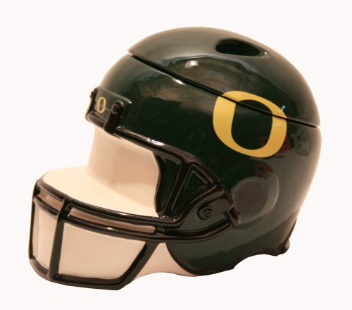 Out of the Woods of Oregon Collegiate Football Helmet Cookier Jar, University of Oregon Helmet