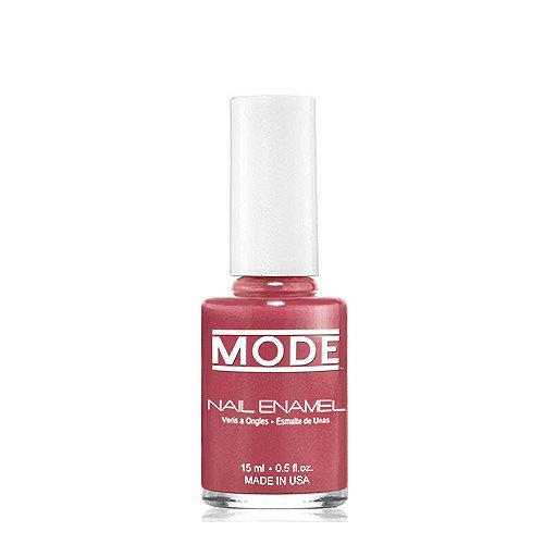 MODE Nail Enamel .50 fl oz Long Wear, High Gloss, Chip Resistant Cruelty-Free and Vegan, Salon Nail Polish Formula MADE IN THE BEAUTIFUL USA (Brown Dusty Rose with Fine Pearl - Shade #154)