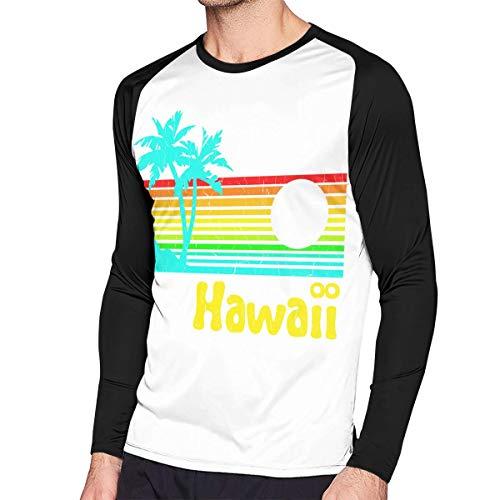 Crazy Popo Men's Casual Hawaii- Long Reglan T-Shirt Tunics Tops