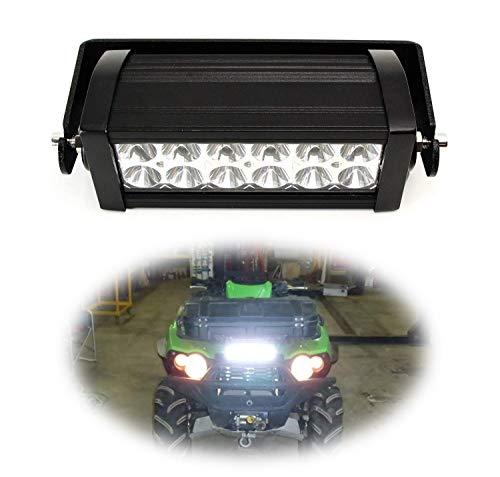 iJDMTOY 8-Inch LED Light Bar Kit Universal Fit For ATV UTV Grill, Hood & Handles, Includes (1) 36W High Power Double Row LED Light Bar & Front Grille/Center Hood/Handlebar Mounting Bracket