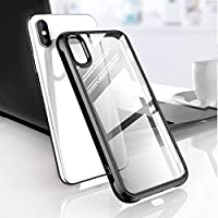 Tellunow Protective Clear Case for iPhone Xs Max 6.5 inch 2018 (Black)
