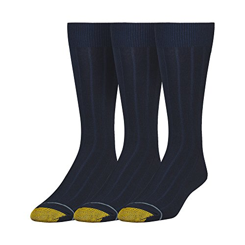 Gold Toe Men's Hampton, 3 Pack, Navy, Sock Size: 10-13/Shoe Size:9-11