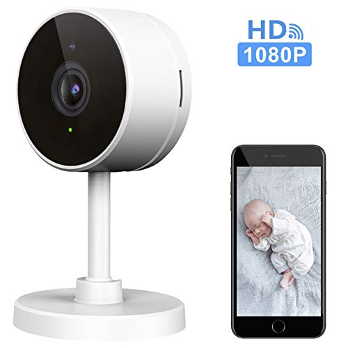 LARKKEY WiFi Home Security Surveillance Camera 1080P, Smart Baby Monitor Compatible with Alexa and Google Home, Motion Detection & Tracker, Night Vision