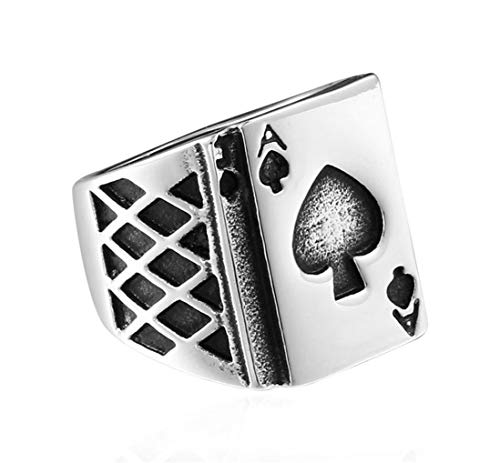 Man's Spades A Creative Stainless Steel Rings Ring,Size 7