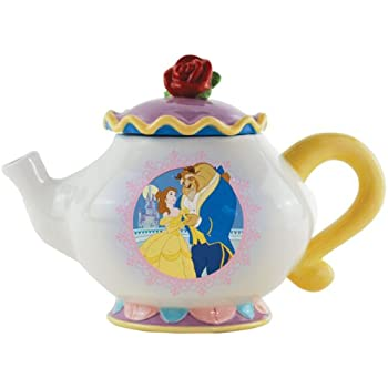 Westland Giftware Ceramic 6.75-Inch Disney Beauty and The Beast Teapot, 30-Ounce