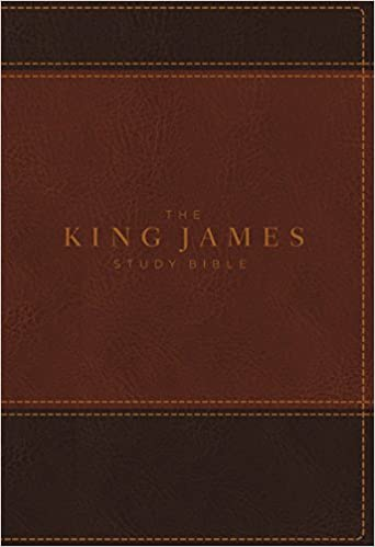 KJV, The King James Study Bible, Leathersoft, Brown, Red