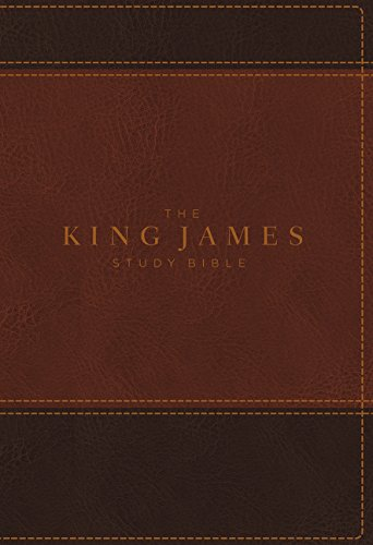 KJV, The King James Study Bible, Leathersoft, Brown, Red Letter, Full-Color Edition