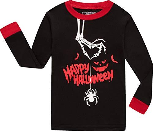 5097980c3 Boys Halloween Pajamas Glow in The Dark Kids Spider Pyjamas Children ...