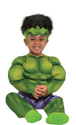 The Incredibles Baby Halloween Costumes (Baby Hulk Muscle Costume ( size:12M-24M ))