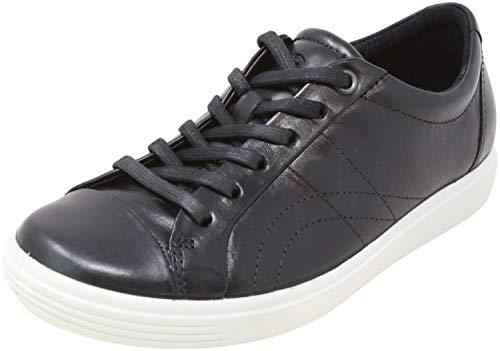 ECCO womens Soft 7 Stitch Tie Sneaker, Black, 8-8.5 US