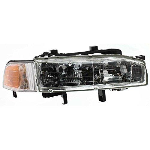 Headlight for Honda Accord 92-93 RH Assembly Halogen w/Corner Light w/Bulb(s) Passenger Side 93 Honda Accord Corner
