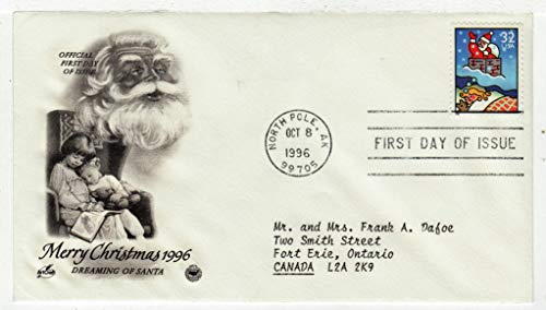(United States Christmas 1996 Dreaming of Santa Postage Stamp Original First Day Cover # 3110 w/Cachet Art Craft)