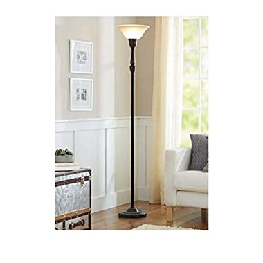 Better Homes and Gardens 70  Restoration Bronze Finish Torchiere Floor Lamp