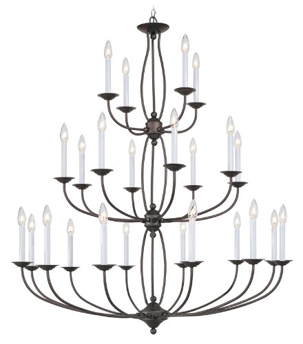 Livex Lighting 4180-07 Chandelier with No Shades, (Large Chandelier Light Fixture)