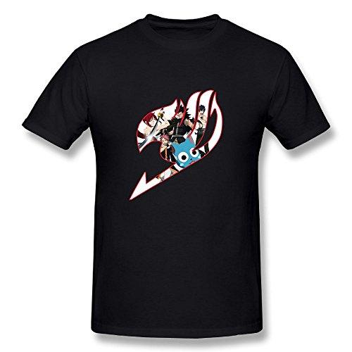 TisEEaZs Mens Tshirt-Fashion Fairy Tail Black XXL