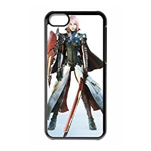 iPhone 5c Cell Phone Case Black lightning final fantasy iii Popular games image WOK0705467