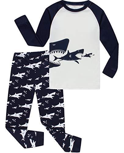 Boys Girls Christmas Pajamas Reindeer Cotton Toddler Clothes Kids Pjs Children Sleepwear Size 10T -