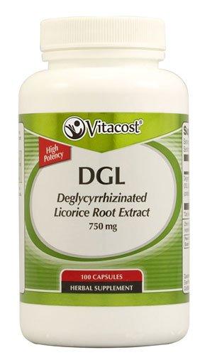Vitacost DGL Deglycyrrhizinated Licorice Root Extract -- 750 mg - 100 Capsules - 2pc ()