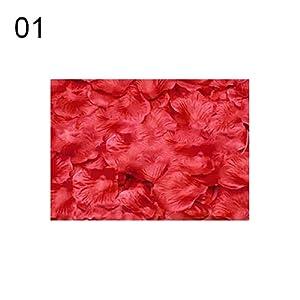 liyhh 100 Pcs Artificial Rose Flower Petals Wedding Party Table Floor Decorations 1