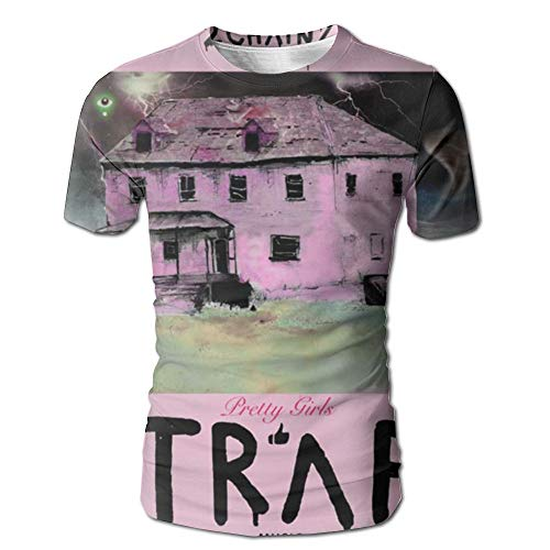 Geneva F 2 Chainz Pretty Girls Like Trap Music Men's Design 3D Printed Short Sleeve Tshirt M (2 Chainz Pretty Girls Like Trap Music)