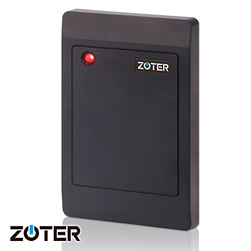 ZOTER Waterproof IP65 Wiegand 26 IC RFID Card 13.56Mhz Reader for Home Office Door Entry Access Control Security System