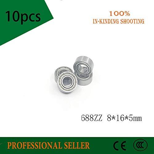 Ochoos Promotion! 10pcs 688 688ZZ 688-2Z 8165 Miniature Carbon Steel deep Groove Radial Shaft Ball Bearing ()