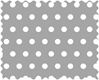 product image for SheetWorld 100% Cotton Percale Fabric by The Yard, Polka Dots Grey, 36 x 44