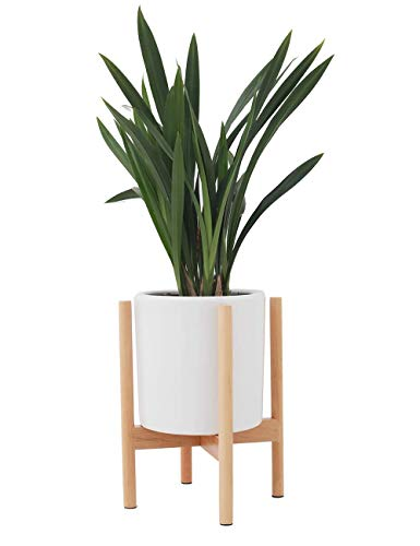 Modern Wooden Plant Stand, Indoor Outdoor Flower Pot Stands Holder Display for House Garden Patio (Pot NOT Included)
