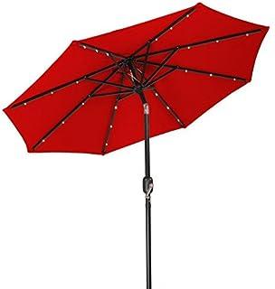 Attractive SNAIL 9 Ft Solar Powered LED Patio Umbrella With 32 Lights, Illuminated  Outdoor Aluminum Market