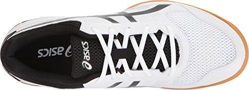 ASICS Men's Gel-Rocket 8 White/Black/Silver 6 D US